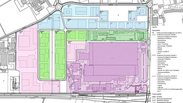 Der Plan der neuen Industriestadt in Birr.