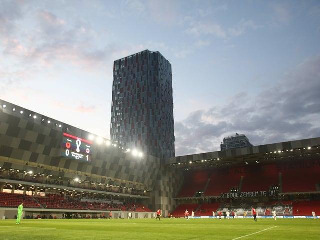Das Nationalstadion in Tirana.