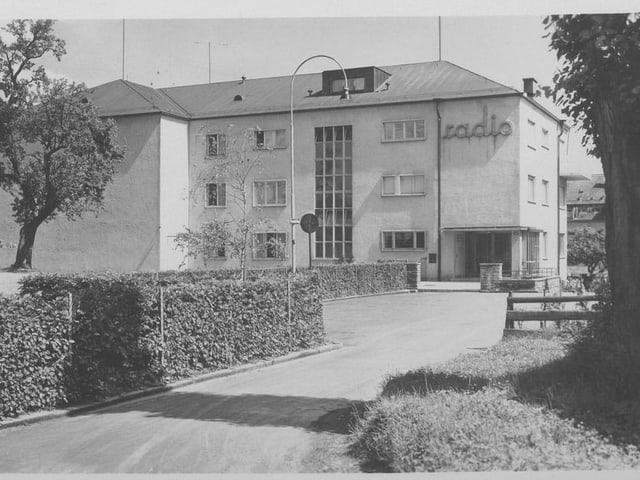 Das Radiostudio Zürich im Jahr 1938.
