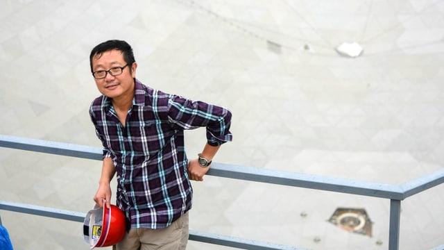 Porträt des Science-Fiction-Autor Liu Cixin