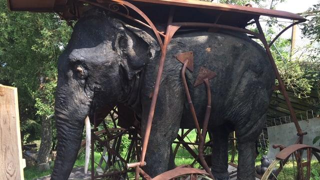 Ein ausgestopfter Elefant