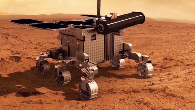 Modell von Mars Rover