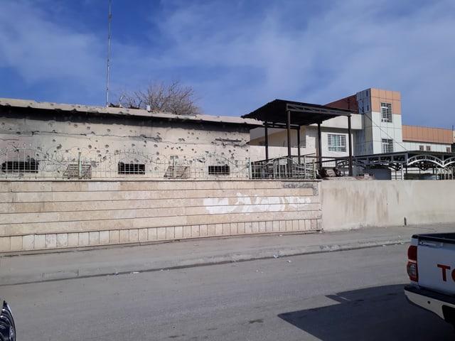 Aussenansicht der Gesundheitsklinik von Care International in West-Mossul