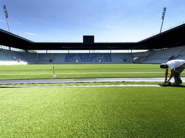 Blick in das neue Stadion in Lausanne