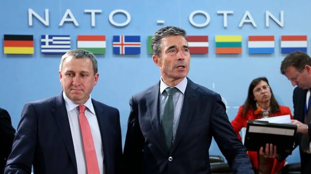 Nato-Generalsekretär Rasmussen und der ukrainische Aussenminister Deshchytsia.