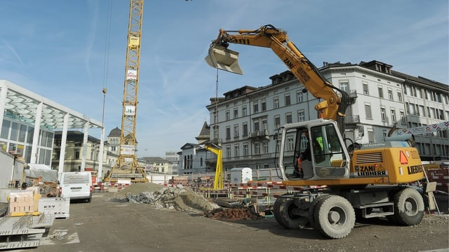 Baustelle Winterthur Bahnhofplatz