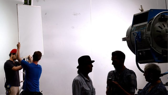 Aufnahme eines Film-Sets.