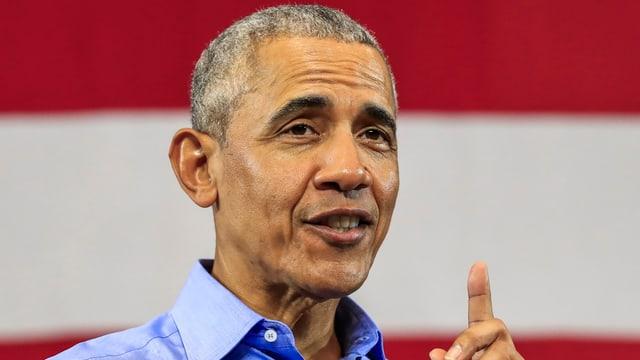Barack Obama während einer Wahlkampfrede.