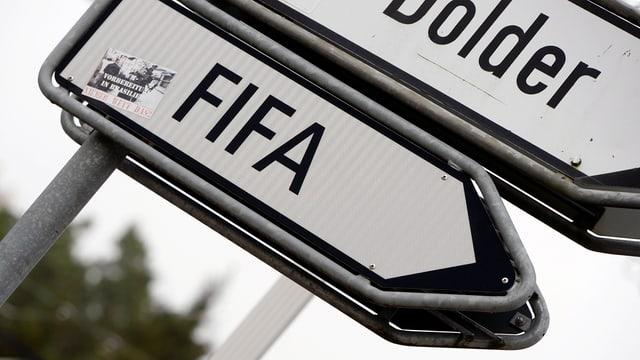 Ein Fifa-Schild