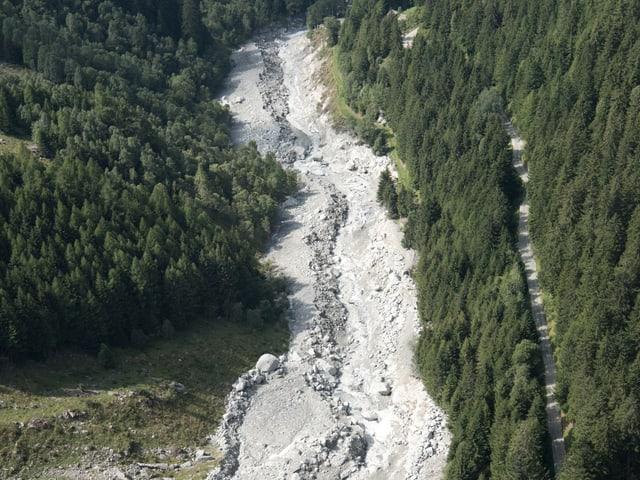 Murgangablagerungen in der Val Bondasca