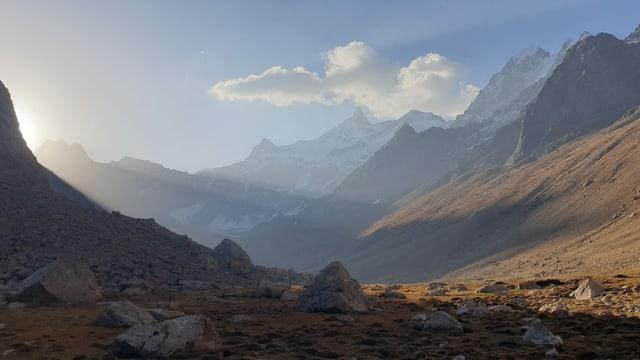 Sonnenuntergang im Min Teke Tal in Krigistan