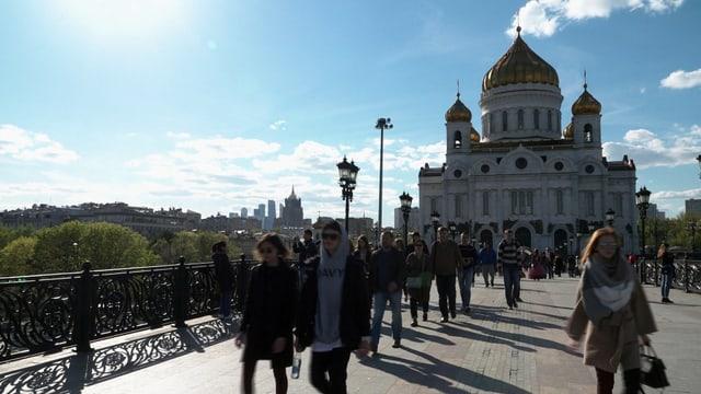 Die Erlöserkirche in Moskau