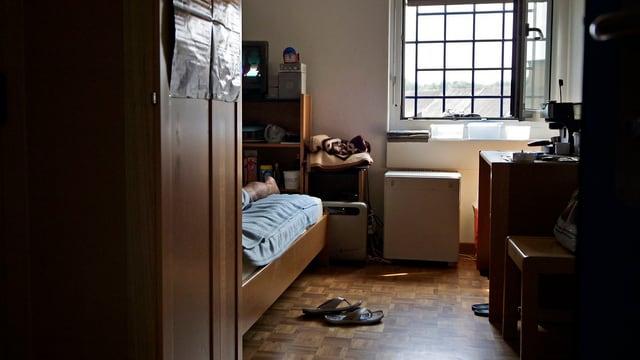 Die Zelle eines Verwahrten in der Zürcher Strafanstalt Pöschwies.