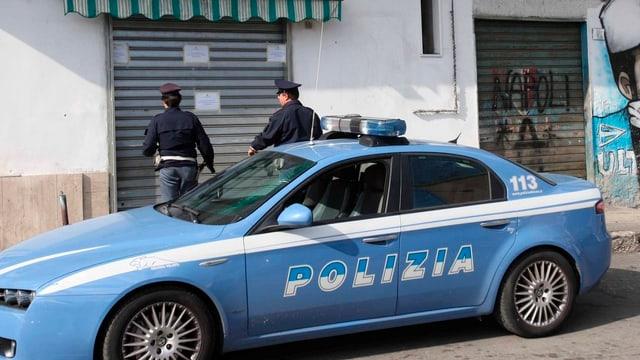 Ein Polizeiauto in Italien.