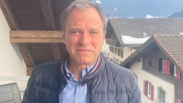 Luzi Thomann, il president da la fundaziun Piz Mitgel Val Surses.