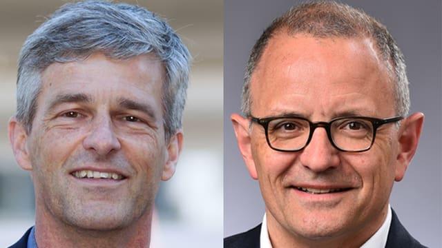 Daniel Siegenthaler SP und Hanspeter Hilfiker FDP