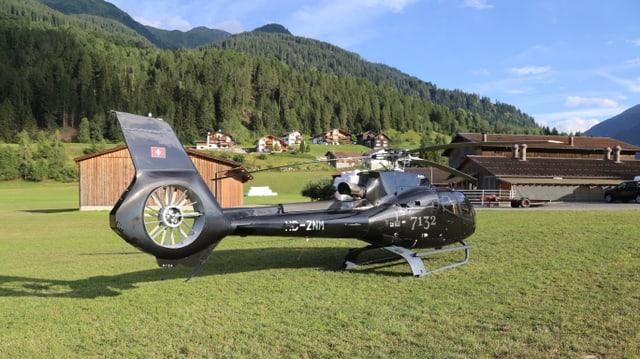 Helicpiter da la 7132 SA, s'atterrà sper Uors