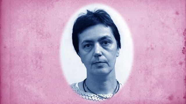 Ein Aufnahme von Schriftstellerin Libuše Moníková.