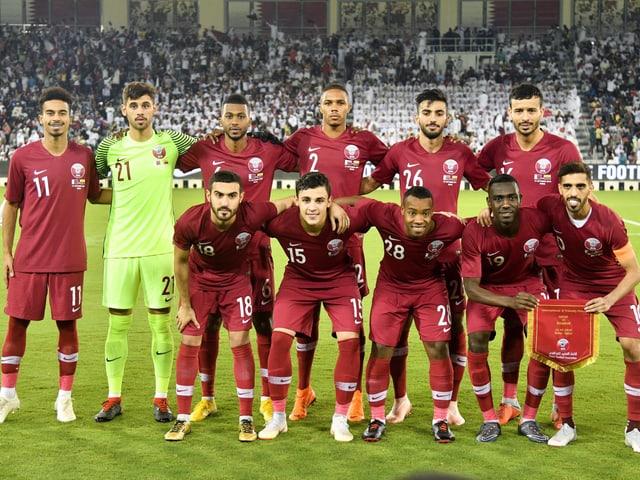 Die katarische Nationalmannschaft.