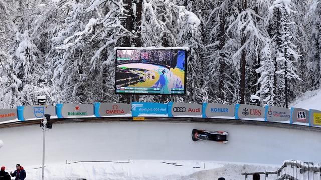 Bobbahn in St. Moritz