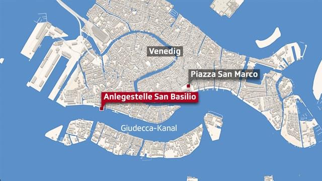 Karte von Venedig