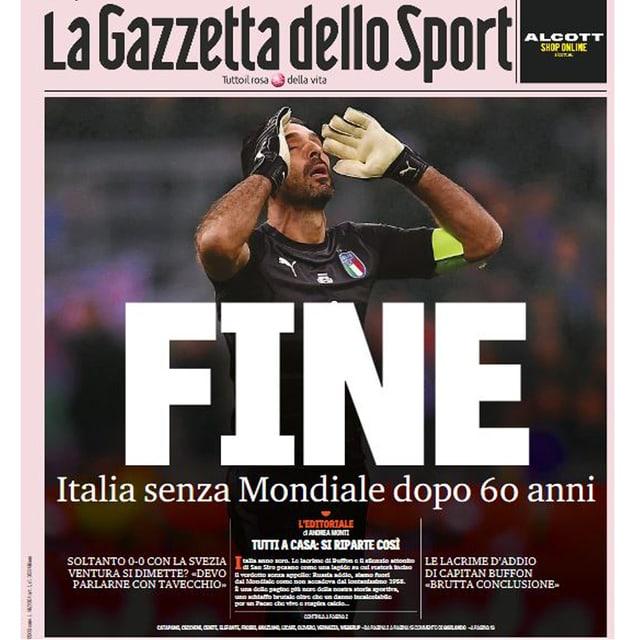 Titelblatt der «Gazzetta dello Sport».