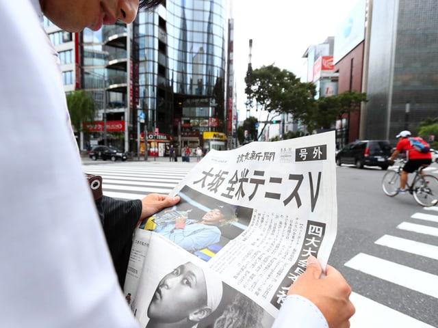 Japans Presse feiert den Triumph von Naomi Osaka.