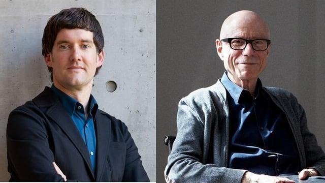 Marc Zehntner und Rolf Fehlbaum in Fotoaufnahmen von Vorne.