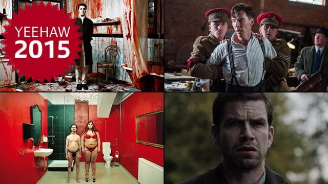 Collage aus Im Keller, Imitation Game, What We Do In The Shadows und Erbarmen