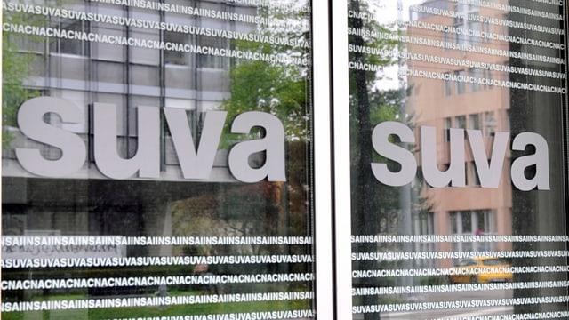L'isch d'entrada da l''institut svizzer d'assicuranza d'accidents SUVA