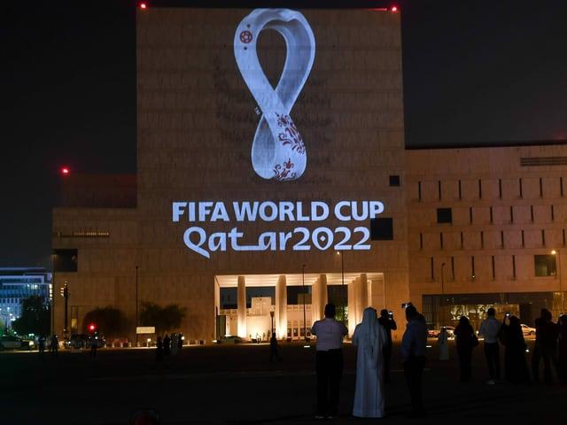 Das Logo der WM 2022 in Katar.