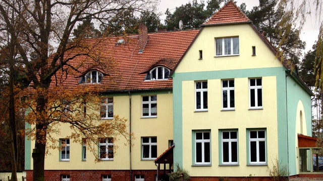 Das Haus Fichtengrund in der Waldhofsiedlung in Templin. Hier wuchs Angela Merkel auf.
