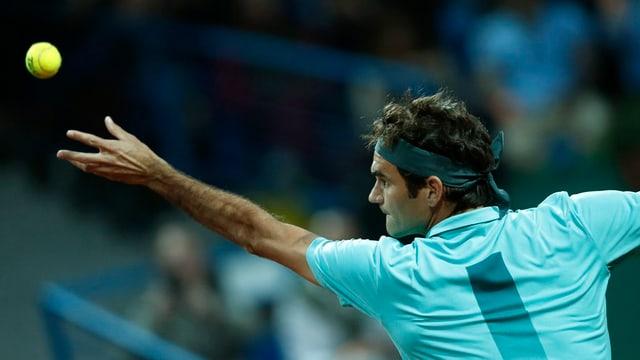 Il giugader da tennis Roger Federer en acziun.