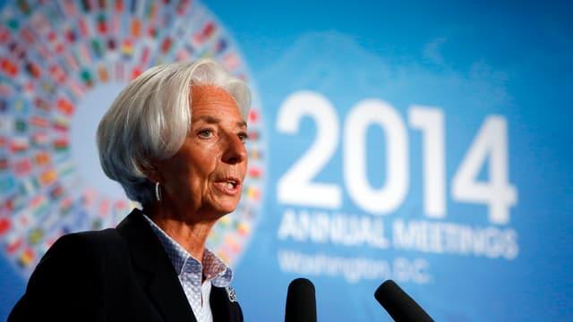 IWF-Chefin Lagarde eröffnet das Jahrestreffen in Washington.