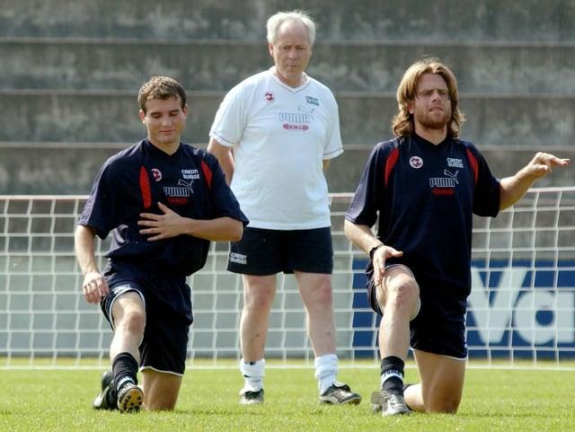 Alex Frei (links) und Stephan Keller in der Nationalmannschaft.