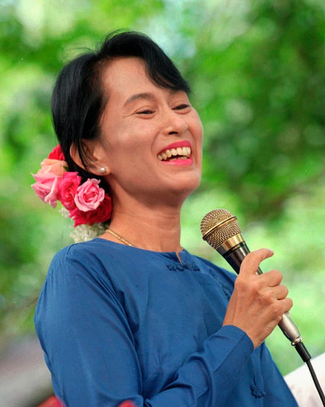 Portrait Nobelpreisträgerin Aung San Suu Kyi