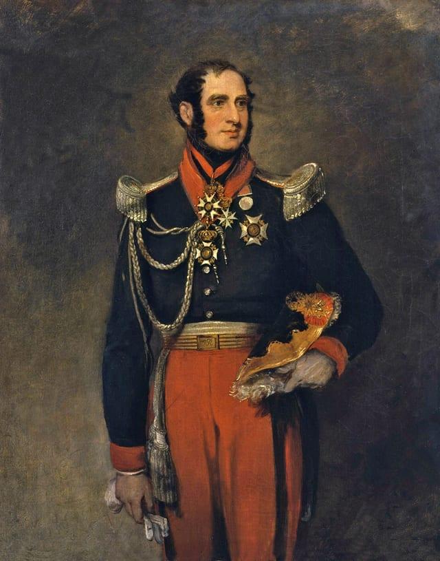 Das Porträt des Herzogs und Kindsvaters Paolo Ruffo di Bagnaria in Gala-Uniform