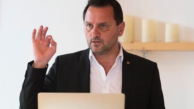 Jean-Marie Bornet, entlassener Sprecher der Walliser Kantonspolizei.