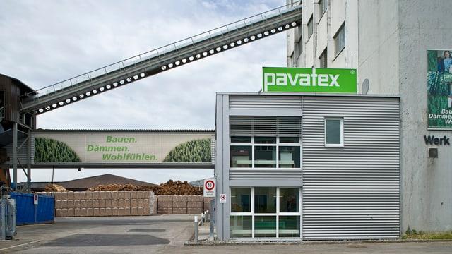 Das Pavatexwerk in Cham.