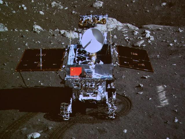 Der chinesische Mondrover Jadehase auf Mission.
