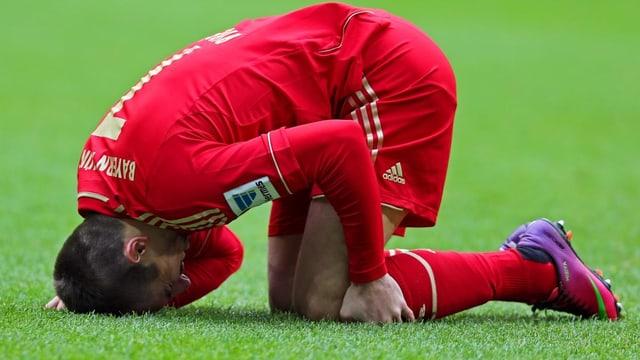 Bayerns Franck Ribéry fällt für das Champions-League-Rückspiel gegen Arsenal aus.