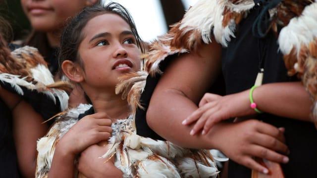 Maori-Mädchen