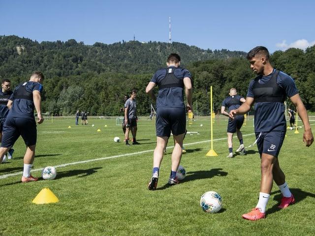Spieler des FC Zürich im Training