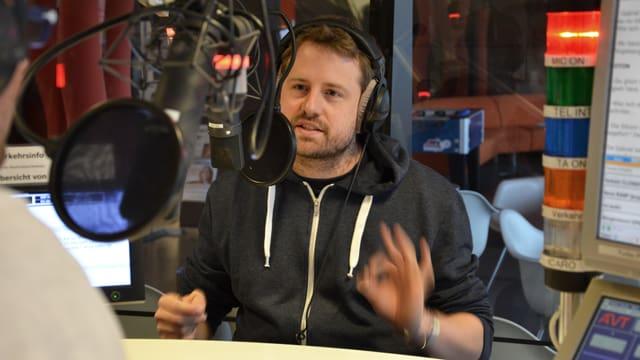 Gabriel Vetter im Studio.