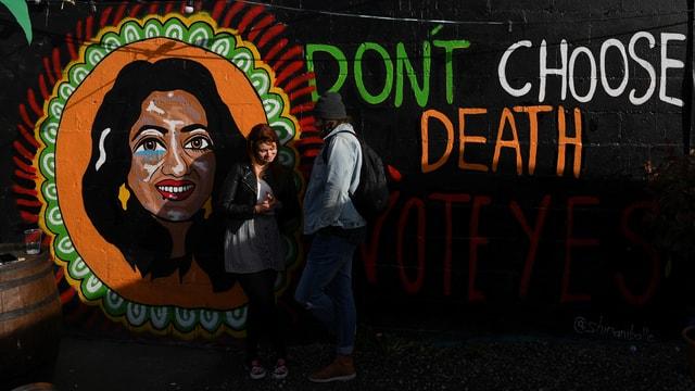 Banner der Abtreibungsgegner