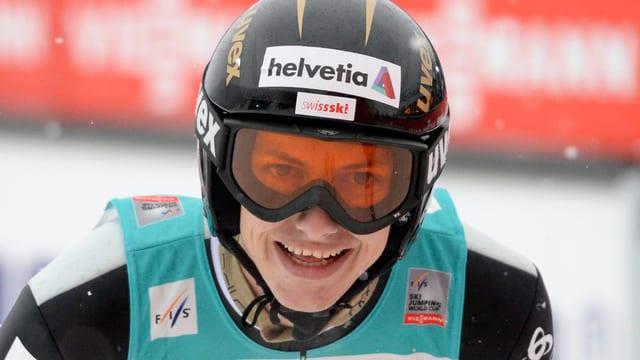 Skispringer Gregor Deschwanden am Weltcupspringen in Engelberg