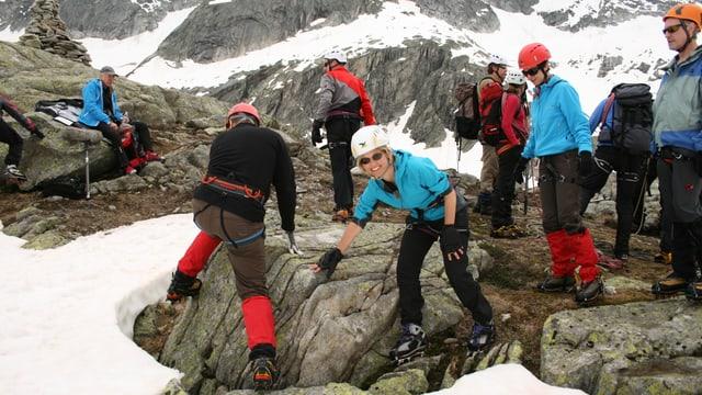 Bergsteigerkurs für Sabine Dahinden