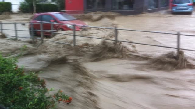 Hochwasser in Altstätten