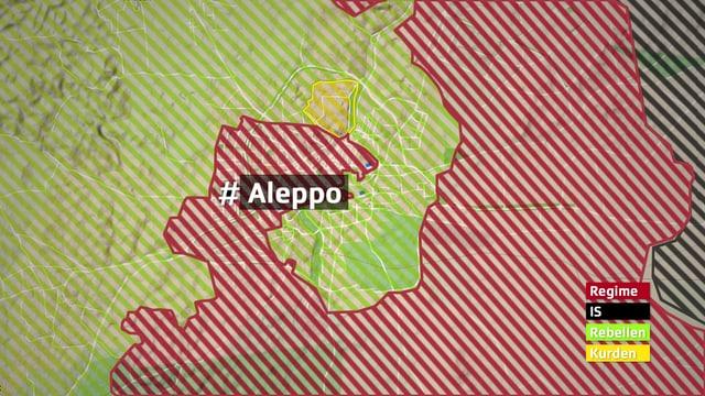 Militärische Situation um Aleppo