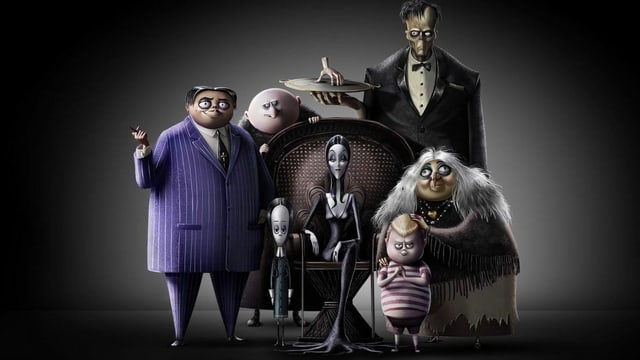 Eine animierte Monster-Familie.